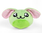 CLEARANCE - Maya the Puff Monster Minky Plush in Mint Green OOAK
