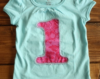 ready to ship birthday shirt - 1st birthday outfit - girl birthday shirt - photo shoot shirt - cake smash shirt - pink silver birthday