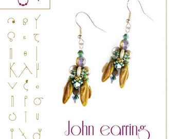 John earring Pattern with lentil - PDF instruction for personal use only
