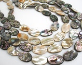 Abalone Beads, Abalone Oval, Paua Shell Beads, Oval Shape, 12mm x 19mm, Wholesale Abalone, Brides Bridal, Loveofjewelry, SKU 3930A