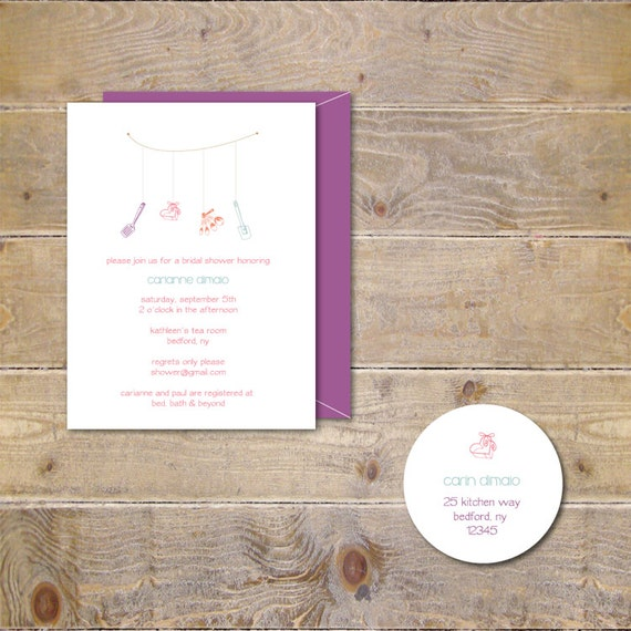 Bridal Shower Invitations . Kitchen Bridal Shower Invitations . Bridal Shower Invites - Kitchen Theme