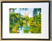 "New York Art Framed 8x10 NYC Print ""Central Park""  Mat black metal Frame Included.  Ready to Hang, by Gwen Meyerson"