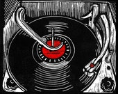 What Goes Around (Phonograph), Original Block Print