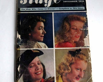 The Stage Magazine November 1940 Volume 1 Issue 1 Theatrical Broadway History