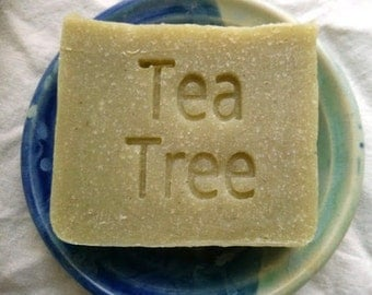 Tea Tree Soap for hands or body by Aquarian Bath - Vegan Soap - Handmade Soap - Cold Process Soap