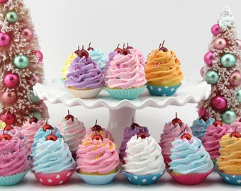 Fake Cupcakes Set of 25 Mini Cupcakes. Fab Decor For Candy Land Birthday, Party Favors, Photo Props, Can be made into Magnets 12 Legs Design