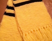 KNITTING PATTERN ONLY Harry Potter - Hufflepuff-  inspired scarf. 6ft. long by 9 inches wide