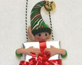 Christmas Elf Free Standing Magnetic