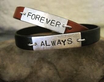 Couples Custom Leather Bracelets