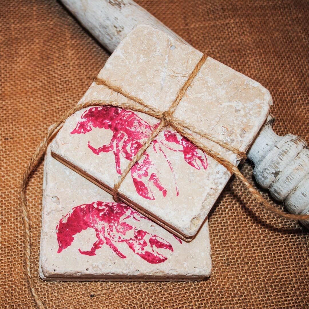 red rock lobster coasters designer drink coasters tile