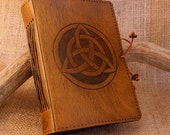 Standard - Celtic Triquetra Hand Bound Leather Journal