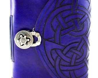 Customized journal, purple journal, Celtic journal, lined journal, leather notebook, personalized journal, handmade journal, leather diary