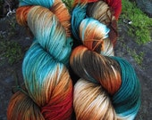Handpainted sock yarn, fingering yarn, Superwash Merino yarn 100 grams-Mrs. Fox