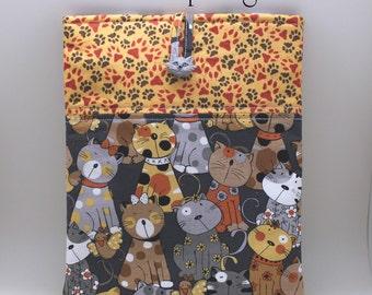 Cats and Pawprints ipad Sleeve, ipad Cover, ipad Protector