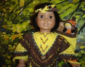 AMERICAN GIRL KAYA 200 beads indian dress, mocs, papoose, original by granmafran