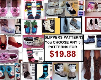 crochet pattern -slippers -  boot style, toddler, children, teens, adults, women, men, boys, accessories, clothing, instant download