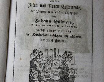 Antique GERMAN BOOK  Biblische Historien Johann Hubnern 1863