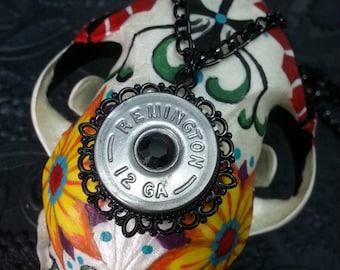 Lordis Ready to Ship Remington 12 Guage Shotgun Shell Black Bullet Jewelry Bullet Necklace