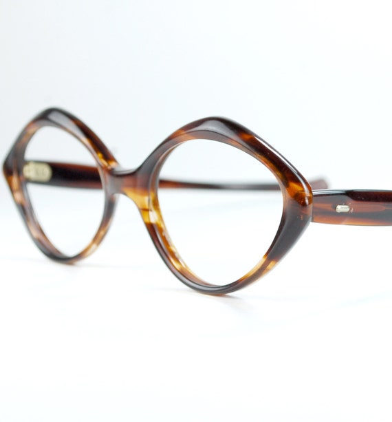 Frame Of Glasses In French : Triangle Tortoise French Cat Eye Glasses Frames by thenovelty