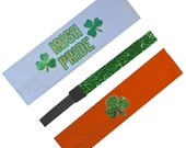 IRISH PRIDE Saint Patricks Day Headband Set