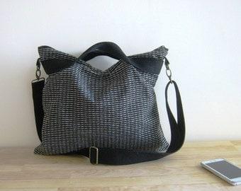 Grey Large Messenger + Shoulder / Hand Bag