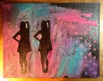 Original Silhouette Painting 6