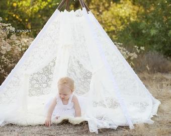 teepees, tent, teepee tent, kids teepee, lace teepee - LACEY
