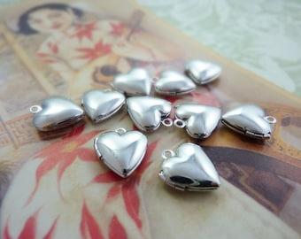 Locket Silver Plated Brass Small Heart Locket (2)