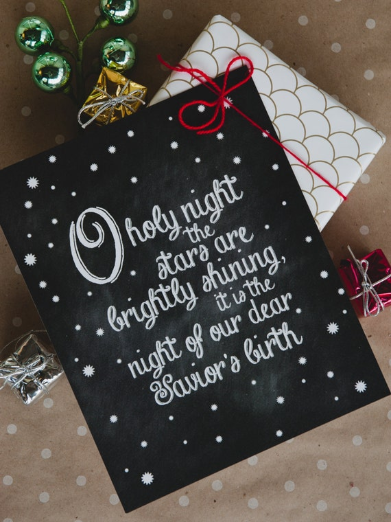O Holy Night - 8x10 print