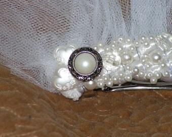 Twice Around - Bridal Hair Clip, Bridal Hair Accessory