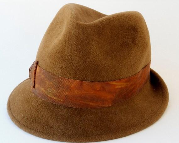 Men's Accessories Fall Accessories Felt Fedora Hat Dress Hat Brown Hat Narrow Brim Hat Trilby Men's Hat Fall Fashion Custom Hat Women's Hat