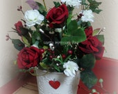 Valentine Floral arrangement of Roses and Carnations