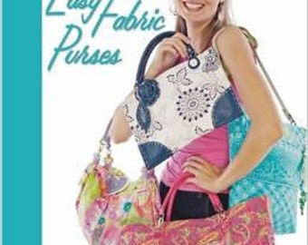 SALE Over 50 percent off  Easy Fabric Purses  8 Purse Patterns by Leisure Arts Publication
