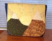 Sunrise Over Mountains Appliqued Messenger Bag