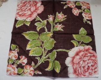 Vintage Pink Rose Hankie