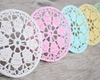 Crochet hoop doily lampshade - choose you color