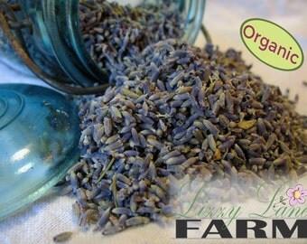 2oz. Lavender Buds ORGANIC lavender, Dried Lavender buds, Sample Size crafting lavender. bulk loose, wedding toss, free shipping
