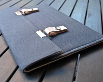 15 MacBook Pro Case 13 inch laptop sleeve 13 MacBook Pro Cover - Gray Linen