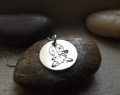 Voodoo Doll Pendant, sterling silver pendant