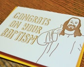 Thumbs Up Baptism, Letterpress Card, Single