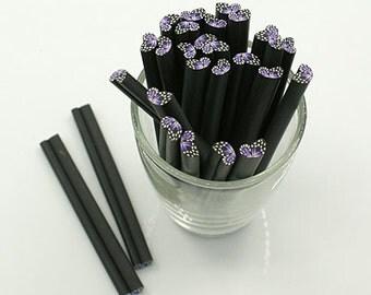 Polymer Clay Sticks - Purple Wing - Set of 10 - #SH118
