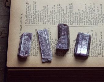 Lepidolite Crystal   Raw Natural Crystal Metaphysical Grid Work Curio.