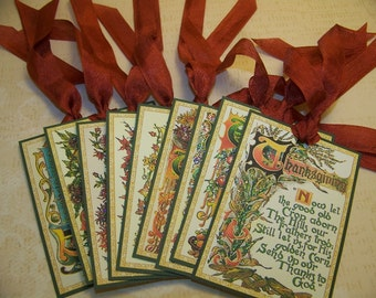 Thanksgiving Tags - Set of 9