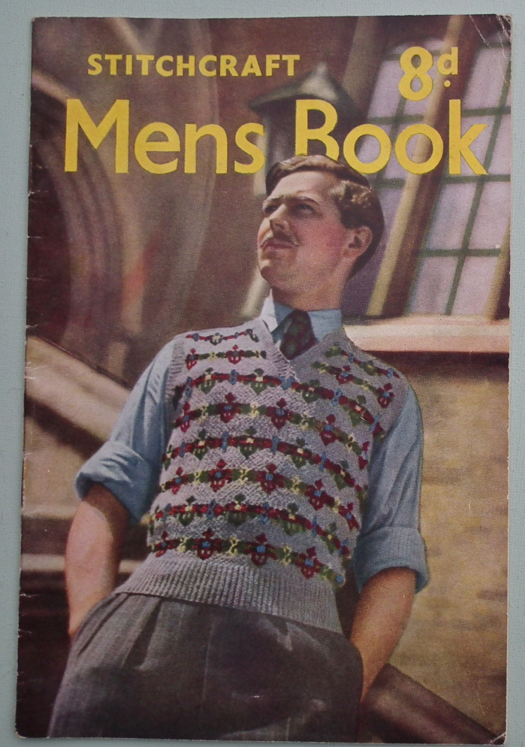 Vintage Knitting Patterns 1940s 1950s Mens Book By