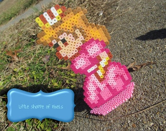 Handmade Inspired by Super Mario All Stars Mario Bros 2 // Standing Handcrafted Princess Peach Figure // Video Game Decor