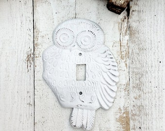 Single Light Switch Plate, Owl Decor, Fossil Tan, Cover Plate, New House, Wedding Gift, Double Light Switch Plate, Style 125