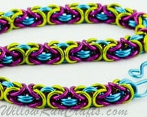 Byzantine Chain Maille Kit- Frolic, Chain Maille Bracelet Kit 3 colors