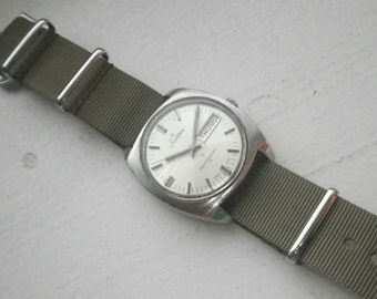 Vintage Men's Military Style Automatic - Stainless - Tradition Brand.