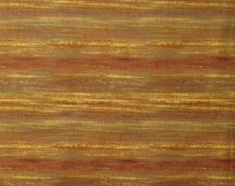 Brown Striped Quilter's Weight Cotton Print Fabric - One Yard - Yardage - By the Yard
