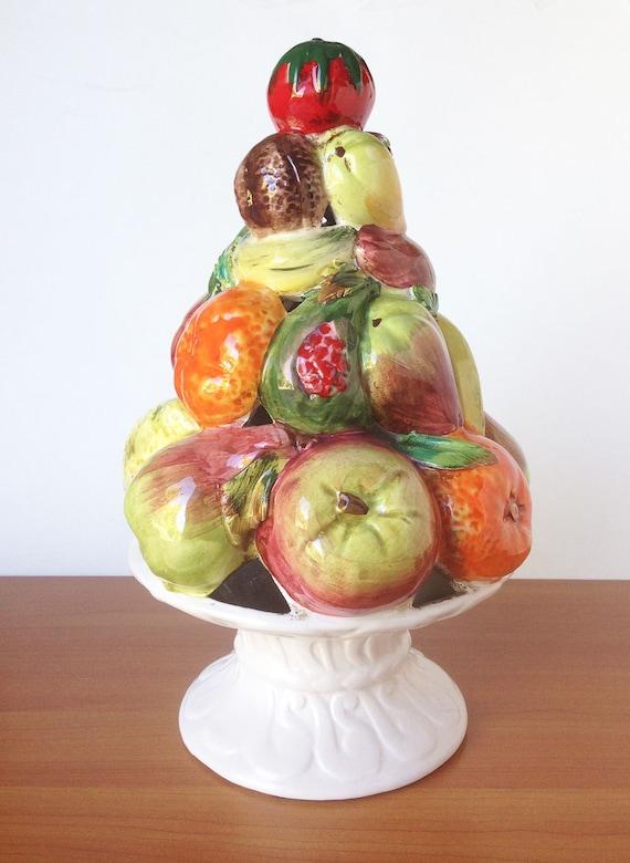 Vintage Ceramic Fruit Topiary Made In Italy Retro